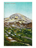 Mt. Rainier View - Rainier National Park Print by  Lantern Press