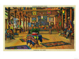 Paradise Inn Lobby, Rainier National Park - Rainier National Park Posters