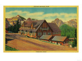 Paradise Lodge at Rainier National Park - Rainier National Park Posters by  Lantern Press