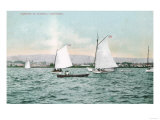 Sailboats off Alameda Beach - Alameda, CA Posters by  Lantern Press
