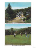 View of Golf Course, Croquet Grounds, Cottages - Bartlett Springs, CA Posters by  Lantern Press