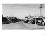 Street Scene, View of a Texaco Gas Station - East Stanwood, WA Posters