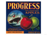 Progress Apple Crate Label - Watsonville, CA Posters by  Lantern Press