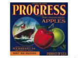 Progress Apple Crate Label - Watsonville, CA Posters