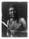 Native American Indian Bow and Arrows Curtis Photograph Print by  Lantern Press