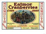 Monmouth Eatmor Cranberries Brand Label Print