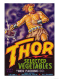 Thor Vegetable Label - Holtville, CA Print by  Lantern Press