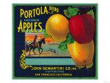 Portola Apple Crate Label - San Francisco, CA Poster