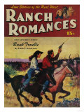 Ranch Romances Magazine Cover Poster by  Lantern Press