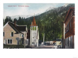 Town View of Mission Street - Ketchikan, AK Poster