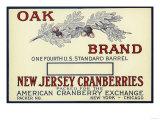 Oak Brand Cranberry Label Posters