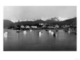 Town View from Water, Fishing Boats - Petersburg, AK Posters