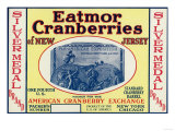 Silver Medal Eatmor Cranberries Brand Label Posters