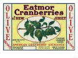 Olive Eatmor Cranberries Brand Label Posters