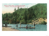 Swimming Near the Dock on the Russian River - Russian River Heights, CA Posters par  Lantern Press