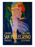 San Pellegrino Vintage Poster - Europe Schilderij van  Lantern Press