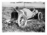 Stutz Race Car Wrecked at Indianapolis Raceway Photograph - Indianapolis, IN Posters