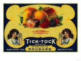 Tick Tock Rhubarb Label - San Francisco, CA Print