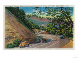 Picturesque Los Gatos Highway near Santa Cruz - Santa Cruz, CA Posters by  Lantern Press