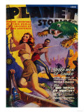Planet Stories Magazine Cover Poster by  Lantern Press