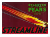 Streamline Pear Crate Label - Santa Clara, CA Poster