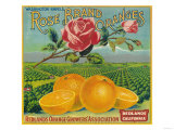 Rose Orange Label - Redlands, CA Pósters por Lantern Press