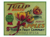 Tulip Apple Crate Label - Yakima, WA Pósters por  Lantern Press