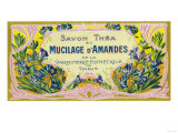 Mucilage D' Amandes Soap Label - Paris, France Posters by  Lantern Press