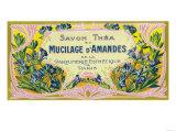Mucilage D' Amandes Soap Label - Paris, France Posters