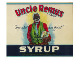 Uncle Remus Syrup Label - Cairo, GA Print by  Lantern Press