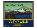 National Park Apple Crate Label - Hood River, OR Posters