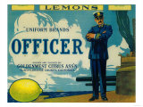 Officer Lemon Label - Tustin, CA Posters