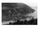 Town View from Hillside - Skagway, AK Posters