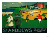 St. Andrews Vintage Poster - Europe Print by  Lantern Press