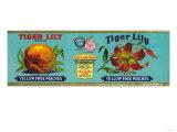 Tiger Lily Peach Label - San Francisco, CA Poster by  Lantern Press