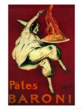 Lantern Press - Pates Baroni Vintage Poster - Europe - Poster
