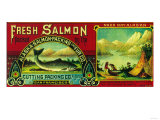 Naha Bay Salmon Can Label - Naha Bay, AK Posters
