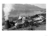 View of Lumber Mills and Town - Juneau, AK Posters