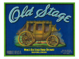 Old Stage Pear Crate Label - Medford, OR Posters