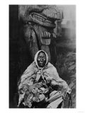 Old Indian Witch Doctor in Alaska Photograph - Alaska Posters by  Lantern Press