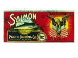 National Salmon Can Label - Kodiak, AK Posters by  Lantern Press