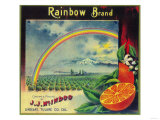 Rainbow Orange Label - Lindsay, CA Posters by  Lantern Press