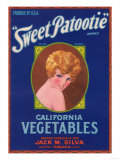 Sweet Patootie Vegetable Label - Turlock, CA Posters