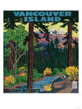 Vancouver Island Advertising Poster - Vancouver Island, Canada Posters by  Lantern Press