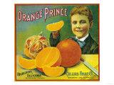 Orange Prince Orange Label - Highgrove, CA Print