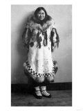 Newarluk, an Eskimo Belle in Nome, Alaska Photograph - Nome, AK Poster