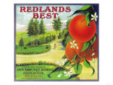 Redlands Best Orange Label - Redlands, CA Poster