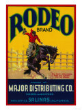 Rodeo Vegetable Label - Salinas, CA Posters by  Lantern Press