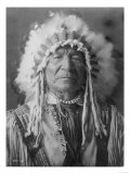 Sitting Bear, Arikara Native American Man Curtis Photograph Posters by  Lantern Press
