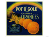 Pot O' Gold Orange Label - Los Angeles, CA Posters